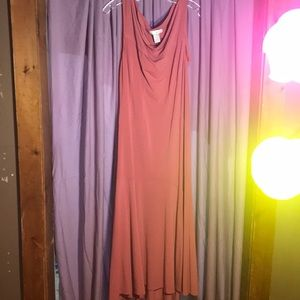 Tank dress peach color